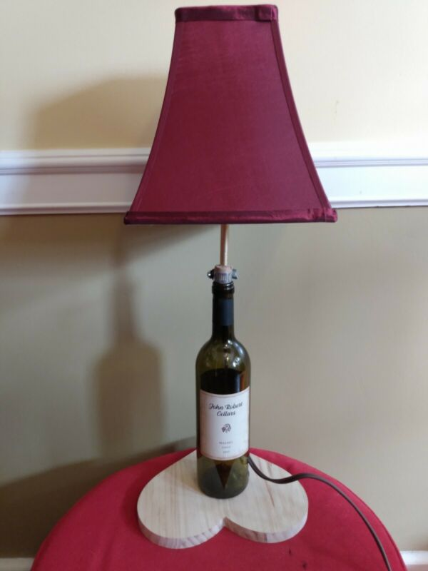 Used furniture for sale by owner Romantic Wine Bottle Lamp.