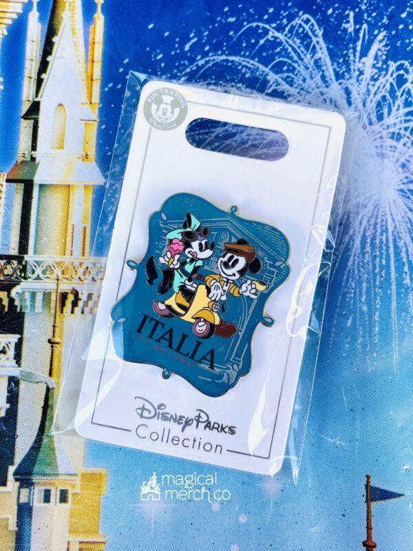 2021 Disney Parks Epcot World Showcase Pin Italy Mickey Minnie Vespa Gelato