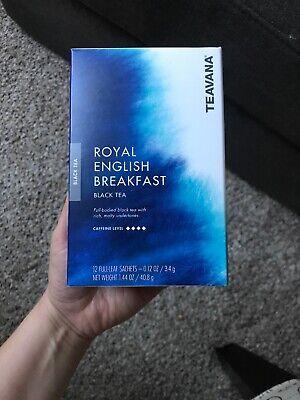 Starbucks Teavana Royal English Breakfast Black 12 Full Leaf Sachets 5/19