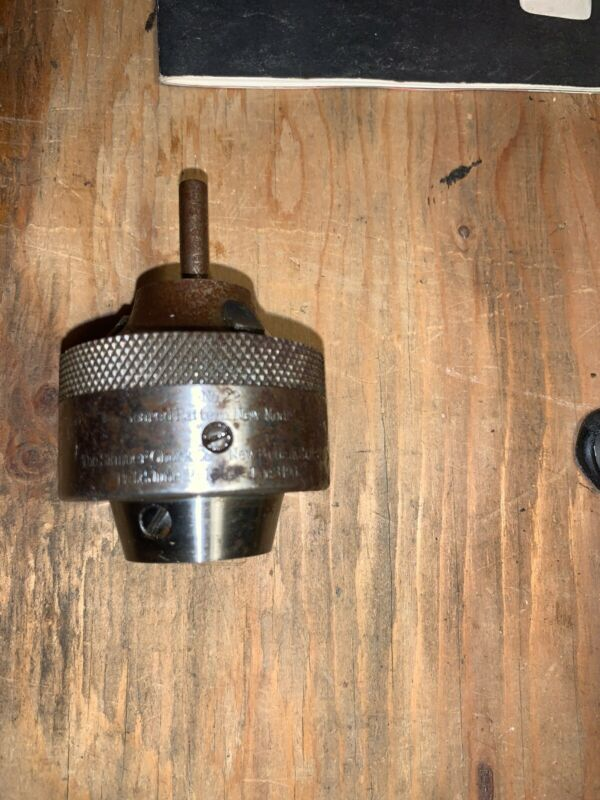 "Skinner Chuck Co. Geared Pattern No. 22 Machinist 1/4"" Drill Lathe Chuck"