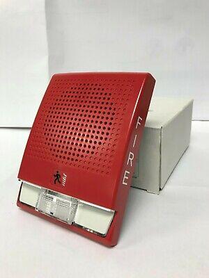 Edwards Genesis G4rf-s7v1575 Speaker Strobe 70v Red Fire Alarm