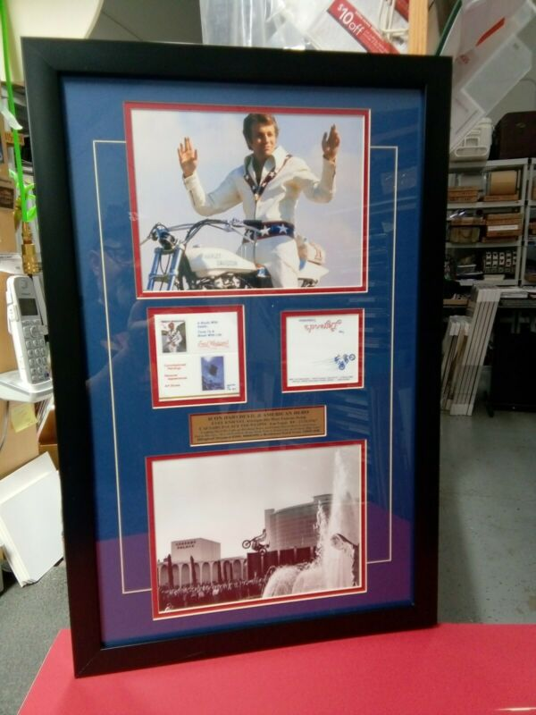 RARE 1980s EVEL KNIEVEL Real BUSINESS CARD Legend