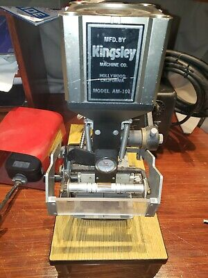 Kingsley Hot Foil Stamping Machine Model Am-101 With Foot Pedalaccessories.