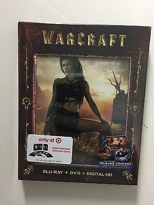 Warcraft  Blu Ray Dvd  2016 Digital Hd  New Target W Slipcover