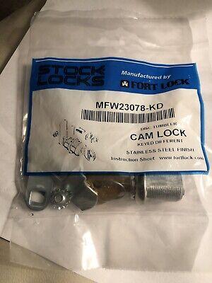 Stock Locks By Fort Lock Mfw23078-kd Cam Locks 78 Stainless Steel Finish