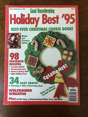 Good Housekeeping Magazine December 1995 Best Christmas Cookies Recipes Wreath](Christmas Wreath Recipe)