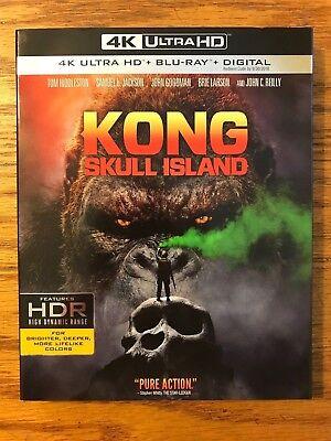 Kong  Skull Island  4K Ultra Hd  Blu Ray  Digital Hd  Brand New  Fast Free Ship
