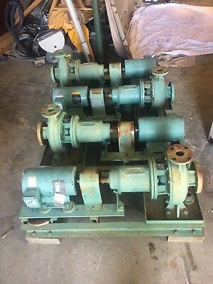 Taco Frame Mounted Circulating Water Pump 3hp Blador Motor Government Says Nos