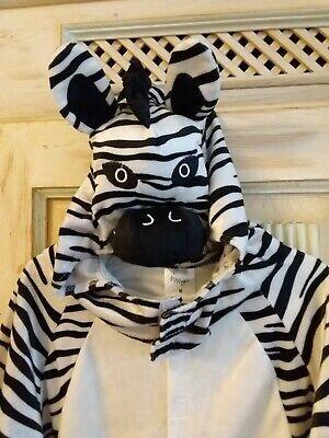 Tier Zebra Kostüm Fasching cool&weich neu (Zebra Tier Kostüm)