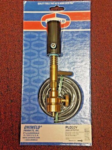 Uniweld PLD33V Halide Leak Detector Propane With Probe Hose & Valve