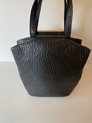 1930s Handbags and Purses Fashion Art Deco Cow Hide 1930s Vintage Black Silver Leather Small Evening Handbag Bag $88.50 AT vintagedancer.com