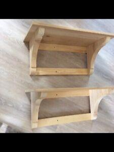 Wood shelves 2x & 4 x wood corbels / brackets