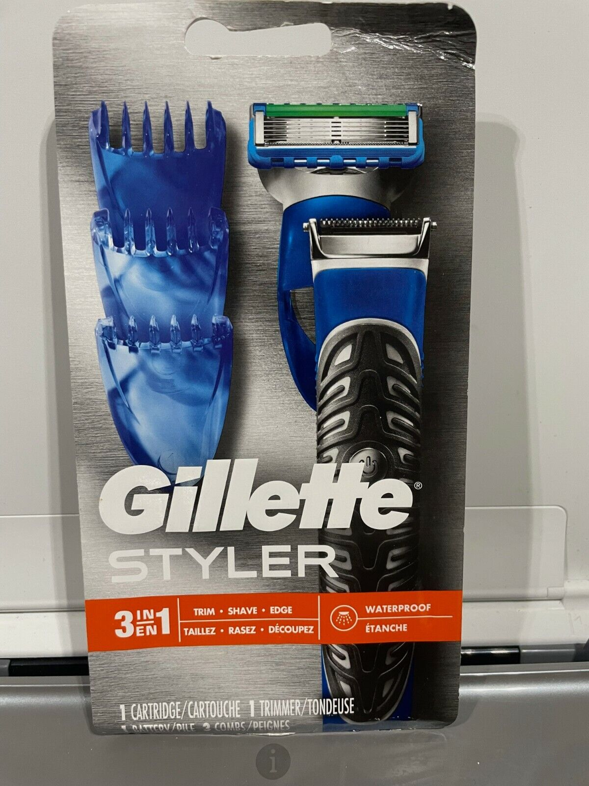 Gillette Styler 3 In 1 Trim Shave Edge Waterproof Men s Razor 1 Cartridge - $18.00