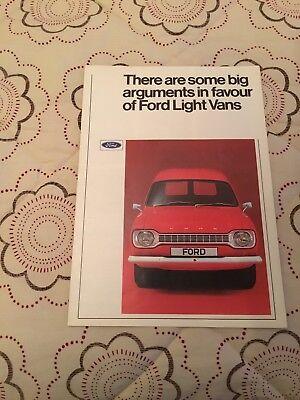 Ford Escort Van MK 1 1971-1973 Sales Brochure