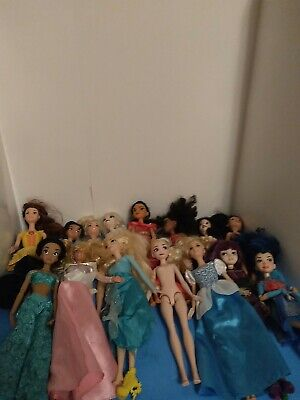 Barbie Doll Lot of 28 Nude/dressed Dolls Play or OOAK Disney And accessories