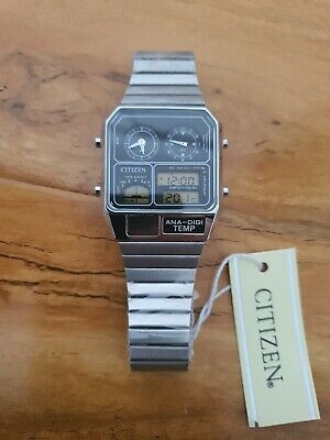 CITIZEN ANA-DIGI TEMP reprinted model watch silver.new Shap