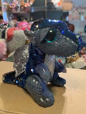 "Ty FLIPPABLES: KATE -Teal/Purple/Coral/Silver Dragon 6"" Beanie Boo! *EXCLUSIVE*"