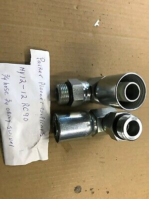 Parker Hydraulic Hose Fittings 34 Inch Hy12-12 Rc 90 Elbow