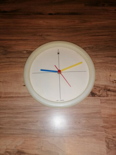 RARE 70s or 80s WALL CLOCK -SIMILAR TO MODERN MEMPHIS POP BAUHAUS
