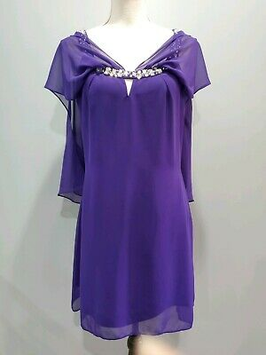 Hailey Logan by Adrianna Papell Womens Purple Homecoming Dress 11/12 Juniors 295 ()