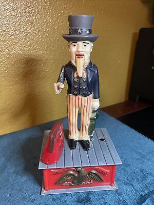 Novelty Uncle Sam Hand Shake Bank