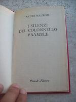 1954 Andre' Maurois: ,i Silenzi Del Colonnello Bramble,. Edizione Rizzoli B.u.r. -  - ebay.it