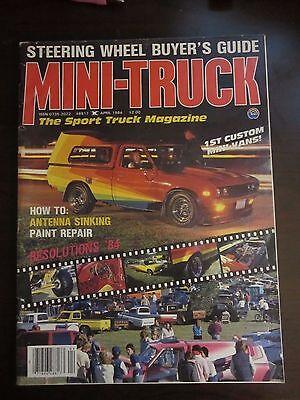 Mini Truck Magazine April 1984 Steering Wheel Buyers Guide Antenna Sinking (AY) Mini Truck Magazine