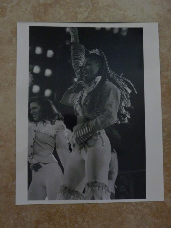 Janet Jackson Live 90's 8x10 B&W Publicity Picture Promo Photo #4