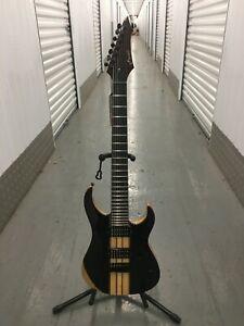 Brand New MAZETI S2- 7 STRING electric guitar, Body-EBONY ASH EBONY, THRU NECK