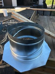 "12"" Heating vent wall flange"
