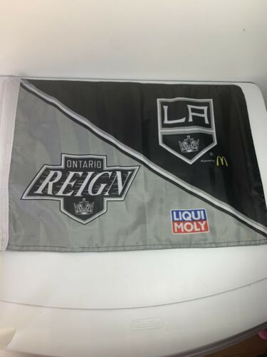 Los Angeles Kings & Ontario Reign CAR WINDOW FLAG Double Sid