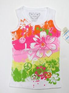 ARIZONA Toddler Girls Graphic Screen Tee Tank Top Size 18 24 2T 3T 4T 5T Clothes