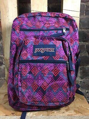 Jansport Big Student Backpack ~ Purple  ~ One Size ~ NEW DEFECT. KF001