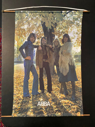 ABBA Wall Scroll #2 outside under the tree Reg Grundy Productions Australia