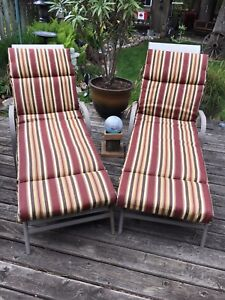 Chaise lounge cushions AND CHAISE LOUNGE CHAIRS!!!!