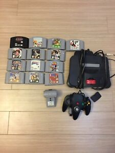 N64 with expansion pak , rumble pak, +13 games