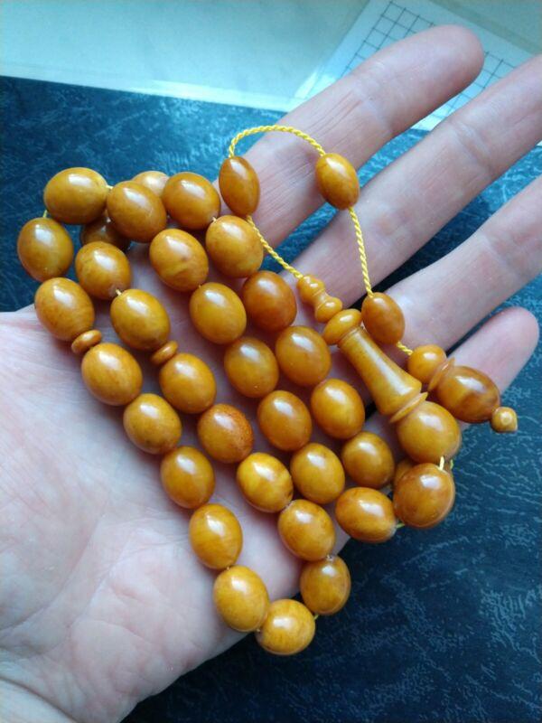Baltic Amber Succinit Formed Rosary Tesbih Kehribar