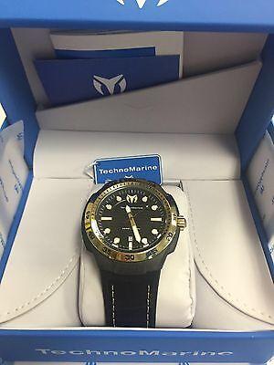 Technomarine TM-515007 Men's Sun Reef Black & Gold Swiss Watch
