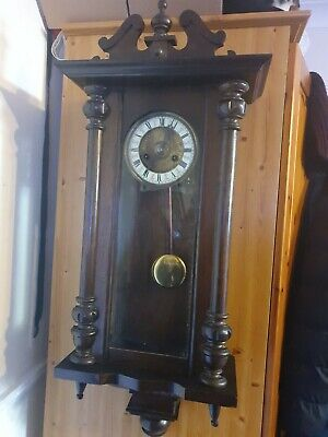 Antique German Viennese  Wall Clock