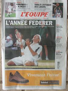 L'Equipe du 25/12/2004 - L'année Federer - Karembeu - Shaq - Vendée Globe - France - État : Trs bon état : Livre qui ne semble pas neuf, ayant déj été lu, mais qui est toujours en excellent état. La couverture ne présente aucun dommage apparent. Pour les couvertures rigides, la jaquette (si applicable) est incluse. Aucune  - France