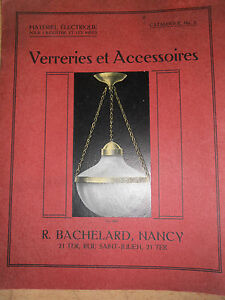 superbe catalogue de verreries maison r bachelard nancy tulipe lampe lustre ebay. Black Bedroom Furniture Sets. Home Design Ideas