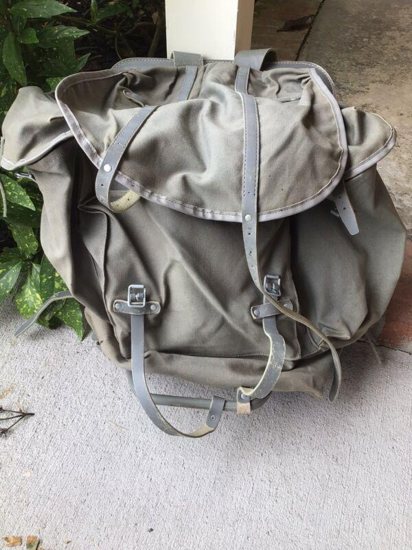Vintage Bergans Of Norway Original Canvas Leather Backpack Rucksack Frame Pack