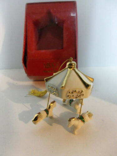 Vintage Mikasa Holiday Magic CAROUSEL with HORSES Christmas Ornament FK015/604