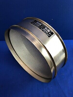 Humboldt No. 10 Usa Standard Testing Sieve Stainless Steel 12dia X 3-14deep