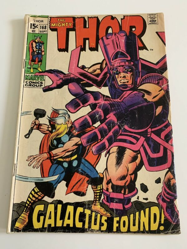 Thor #168 (Marvel, 1969) Galactus appearance Kirby low grade