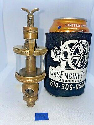 Sherwood Mfg Co 1 Brass Oiler Hit Miss Gas Engine Antique Steampunk Vintage