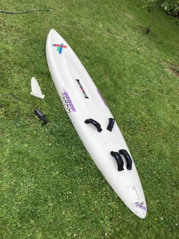 Windsurfbrett Tiga Rebell Mit Finne Und Mastfuß Funboard 290cm 130l Volumen