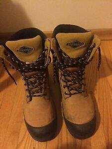 Steel toe workload boots