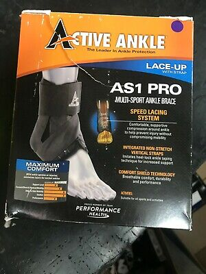 Active Ankle AS1 Pro Lace Up Ankle Brace, Ankle Stabilizer, Large