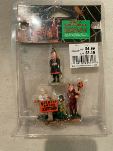 RETIRED Lemax Spooky Town Halloween - Haunted House Visitors #22601AM